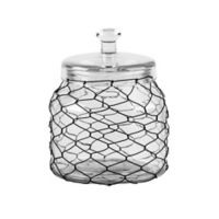 Home Essentials & Beyond Chicken Wire Wrapped 74 oz. Clear Canister