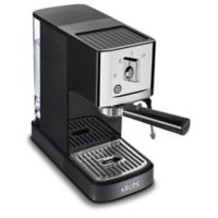Krups® XP344 Calvi Steam & Pump Compact Espresso Machine in Black/Chrome