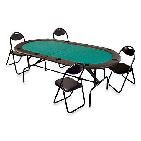 Folding 10 player poker table bed bath beyond for 10 player poker table
