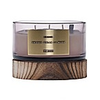 DW Home Smoked Cedar and Musk Wood-Accent 17 oz. 3-Wick Jar Candle in Mauve