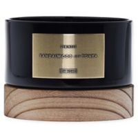 DW Home Sandalwood and Tonka Wood-Accent 17 oz. 3-Wick Jar Candle in Black