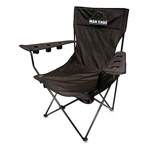 Man Cave Black Kingpin Folding Chair. Man Cave Black Kingpin Folding Chair   Bed Bath   Beyond