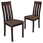 Flash Furniture Upholstered Dining Chairs in Espresso (Set of 2)