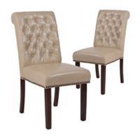 Flash Furniture Faux Leather Upholstered Dining Chairs (Set of 2)