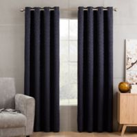 Sketch 84-Inch Grommet Top Window Curtain Panel in Navy