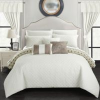 Chic Home Ami 20-Piece Reversible King Comforter Set in Beige