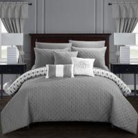 Chic Home Ami 20-Piece Reversible Queen Comforter Set in Grey