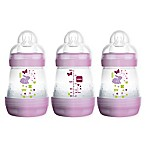 MAM 3-Pack 5 fl. oz. Anti-Colic Bottles in Pink