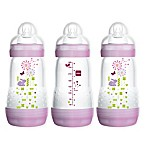 MAM 3-Pack 9 fl. oz. Anti-Colic Bottles in Pink