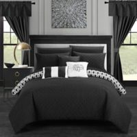 Chic Home Ami 20-Piece Reversible King Comforter Set in Black