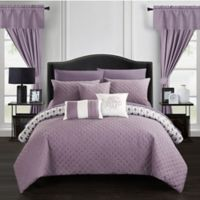 Chic Home Ami 20-Piece Reversible Queen Comforter Set in Lavender