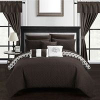 Chic Home Ami 20-Piece Reversible King Comforter Set in Brown