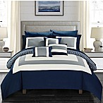 Chic Home Jouein 10-Piece Queen Comforter Set in Navy