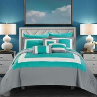 Chic Home Jouein 10-Piece King Comforter Set in Turquoise