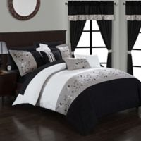 Chic Home Sona 20-Piece King Comforter Set in Black