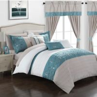 Chic Home Sona 20-Piece King Comforter Set in Blue