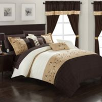 Chic Home Sona 20-Piece King Comforter Set in Brown