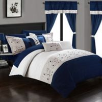 Chic Home Sona 20-Piece King Comforter Set in Navy