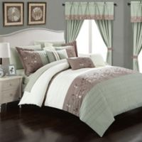 Chic Home Sona 20-Piece King Comforter Set in Sage