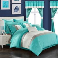 Chic Home Hutch 24-Piece King Comforter Set in Turquoise