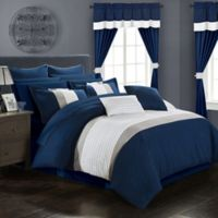 Chic Home Hutch 24-Piece King Comforter Set in Navy