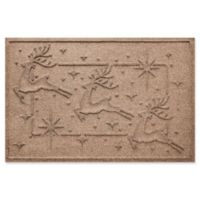 "Weather Guard™ Reindeer Row 23"" x 35"" Door Mat in Medium Brown"