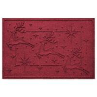 """Weather Guard™ Reindeer Row 23"""" x 35"""" Door Mat in Red/Black"""