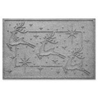 """Weather Guard™ Reindeer Row 23"""" x 35"""" Door Mat in Medium Grey"""