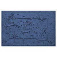 """Weather Guard™ Reindeer Row 23"""" x 35"""" Door Mat in Navy"""