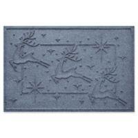 """Weather Guard™ Reindeer Row 23"""" x 35"""" Door Mat in Bluestone"""