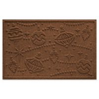 "Weather Guard™ Ornaments 23"" x 35"" Door Mat in Dark Brown"