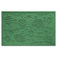 "Weather Guard™ Ornaments 23"" x 35"" Door Mat in Light Green"
