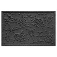 "Weather Guard™ Ornaments 23"" x 35"" Door Mat in Charcoal"