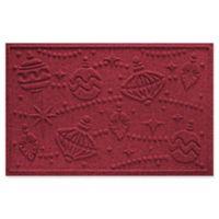 "Weather Guard™ Ornaments 23"" x 35"" Door Mat in Red/Black"