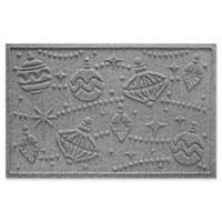 "Weather Guard™ Ornaments 23"" x 35"" Door Mat in Medium Grey"