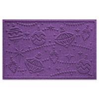"""Weather Guard™ Ornaments 23"""" x 35"""" Door Mat in Purple"""