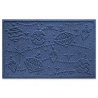 """Weather Guard™ Ornaments 23"""" x 35"""" Door Mat in Navy"""