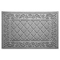 "Weather Guard™ Diamond Holly 23"" x 35"" Door Mat in Medium Grey"