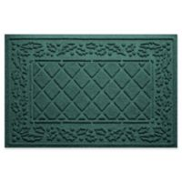 "Weather Guard™ Diamond Holly 23"" x 35"" Door Mat in Evergreen"