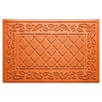 """Weather Guard™ Diamond Holly 23"""" x 35"""" Door Mat in Orange"""