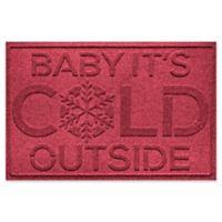 "Weather Guard™ Baby It's Cold 23"" x 35"" Door Mat in Red/Black"
