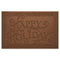 "Weather Guard™ ""Happy Holidays"" 23"" x 35"" Door Mat in Dark Brown"