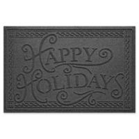 "Weather Guard™ ""Happy Holidays"" 23"" x 35"" Door Mat in Charcoal"