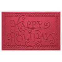 "Weather Guard™ ""Happy Holidays"" 23"" x 35"" Door Mat in Red/Black"