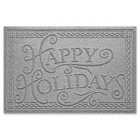 "Weather Guard™ ""Happy Holidays"" 23"" x 35"" Door Mat in Medium Grey"