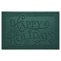 "Weather Guard™ ""Happy Holidays"" 23"" x 35"" Door Mat in Evergreen"