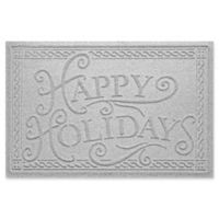 "Weather Guard™ ""Happy Holidays"" 23"" x 35"" Door Mat in White"