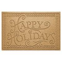 "Weather Guard™ ""Happy Holidays"" 23"" x 35"" Door Mat in Gold"
