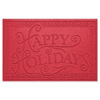 "Weather Guard™ ""Happy Holidays"" 23"" x 35"" Door Mat in Solid Red"