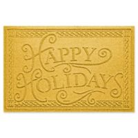 "Weather Guard™ ""Happy Holidays"" 23"" x 35"" Door Mat in Yellow"